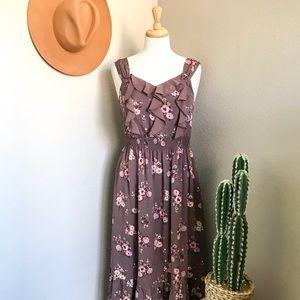Lauren Conrad™️ Lavender Floral Maxi Dress